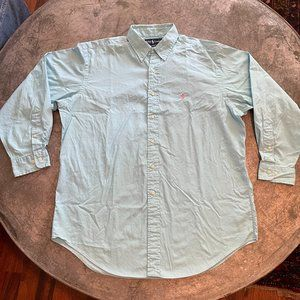 Ralph Lauren Classic Fit Light Blue Dress Shirt Lg